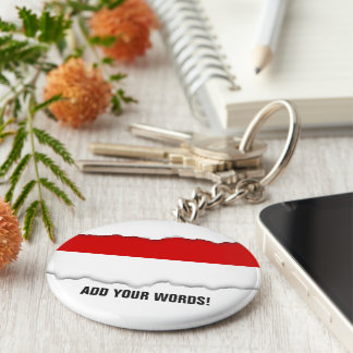 Flag of Monaco Basic Round Button Keychain