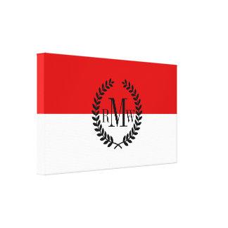 Flag of Monaco Canvas Print