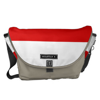 Flag of Monaco Courier Bags