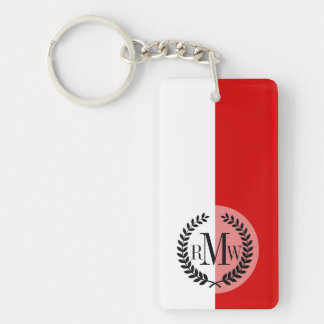 Flag of Monaco Double-Sided Rectangular Acrylic Keychain