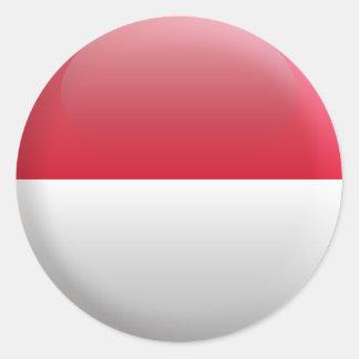 Flag of Monaco Round Sticker