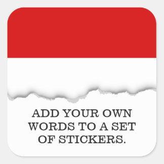 Flag of Monaco Square Sticker