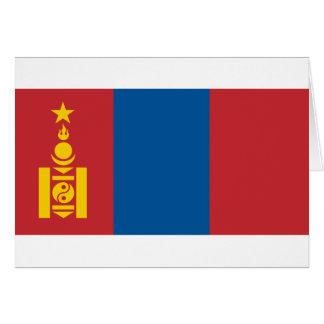 Flag of Mongolia -  Монгол улсын төрийн далбаа Card