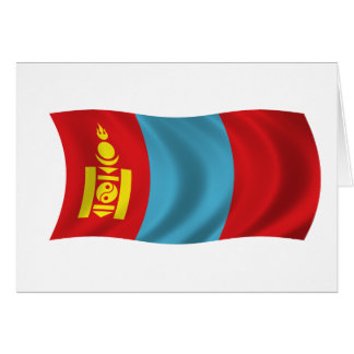 Flag of Mongolia Card
