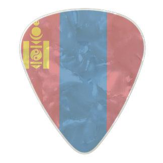 Flag of Mongolia Guitar Picks Pearl Celluloid Guitar Pick