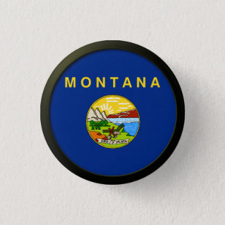 Flag of Montana 1 Inch Round Button