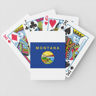Flag Of Montana Bicycle Playing Cards