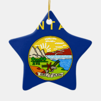 Flag Of Montana Ceramic Ornament