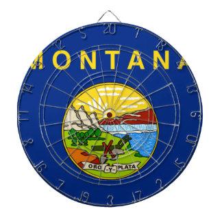 Flag Of Montana Dartboard