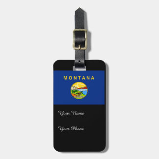 Flag of Montana Luggage Tag