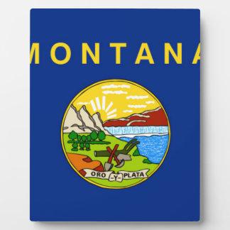 Flag Of Montana Plaque