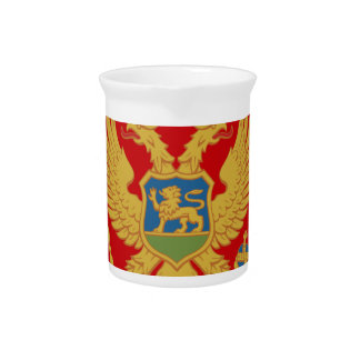 Flag_of_Montenegro Beverage Pitcher
