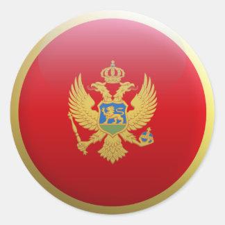Flag of Montenegro Classic Round Sticker