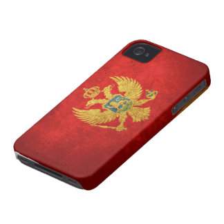 Flag of Montenegro iPhone 4 Case-Mate Case