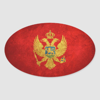 Flag of Montenegro Oval Sticker