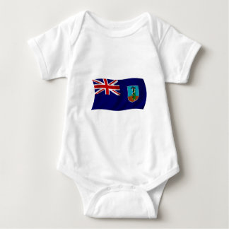 Flag of Montserrat Baby Bodysuit