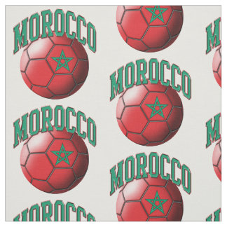 Flag of Morocco Moroccan Soccer Ball Pattern Fabric