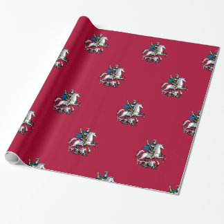 Flag of Moscow oblast Wrapping Paper