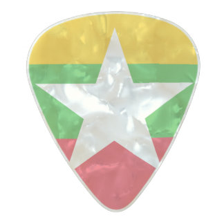 Flag of Myanmar Guitar Picks Pearl Celluloid Guitar Pick