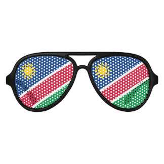 Flag of Namibia Aviator Sunglasses