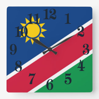 Flag of Namibia Square Wall Clock