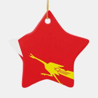 Flag of National League for Democracy Ceramic Star Ornament