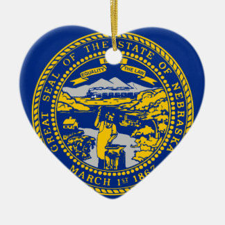 Flag Of Nebraska Ceramic Ornament
