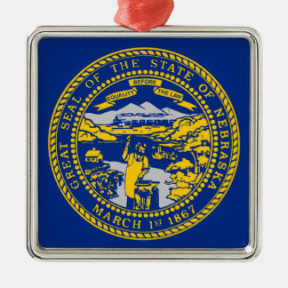 Flag Of Nebraska Metal Ornament