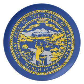 Flag Of Nebraska Plate