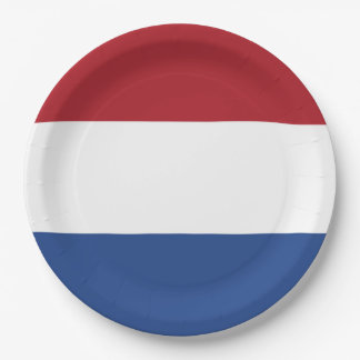 Flag of Netherlands Paper Plate