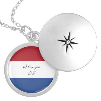 Flag of Netherlands Silver Plated Necklace