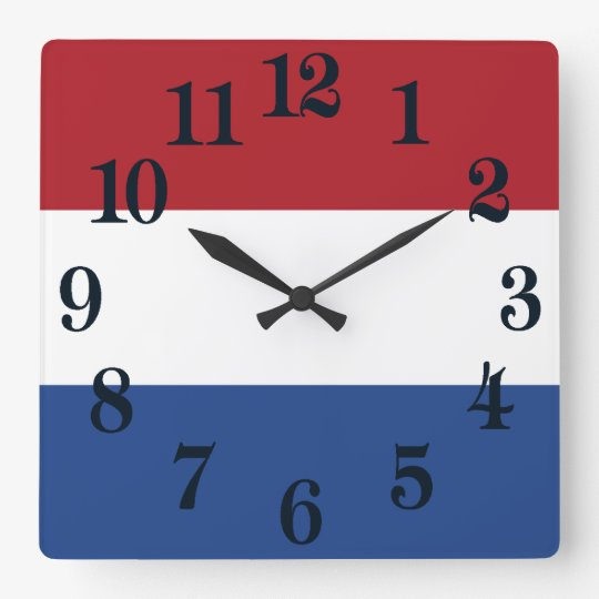 Flag of Netherlands Wallclocks