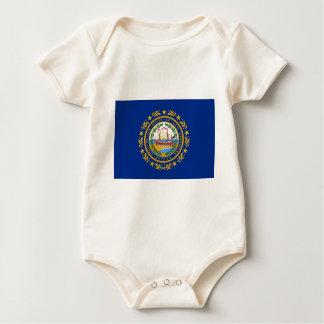 Flag Of New Hampshire Baby Bodysuit