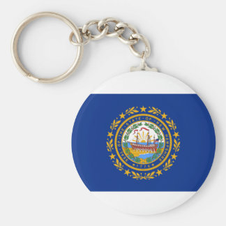 Flag Of New Hampshire Keychain