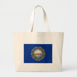 Flag Of New Hampshire Large Tote Bag