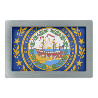 Flag Of New Hampshire Rectangular Belt Buckles
