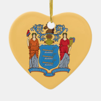 Flag Of New Jersey Ceramic Ornament