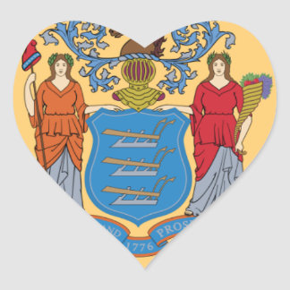 Flag Of New Jersey Heart Sticker