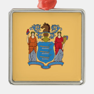 Flag Of New Jersey Metal Ornament