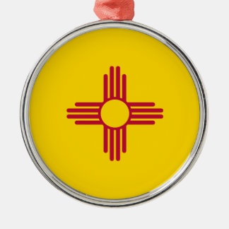 Flag Of New Mexico Metal Ornament