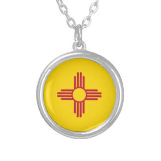 Flag Of New Mexico Silver Plated Necklace