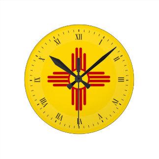 Flag of New Mexico Wall Clocks