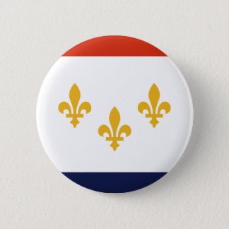 Flag of New Orleans, Louisiana 2 Inch Round Button