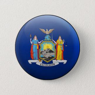 Flag of New York 2 Inch Round Button