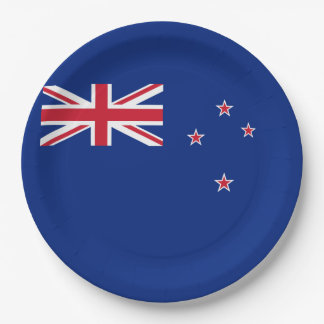 Flag of New Zealand 9 Inch Paper Plate