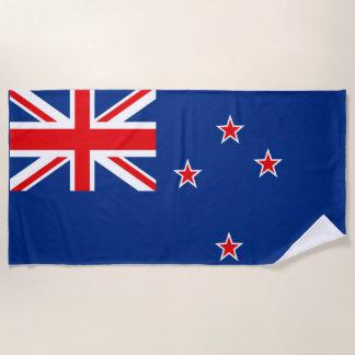 Flag of New Zealand Beach Towel