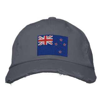 Flag of New Zealand Embroidered Hat