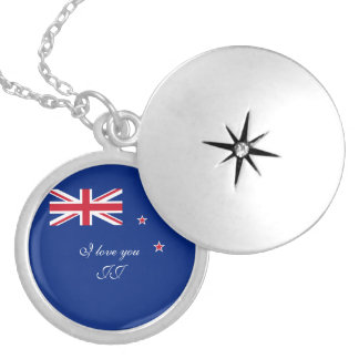 Flag of New Zealand Locket Necklace
