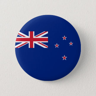 Flag of New Zealand on Pin / Button Badge
