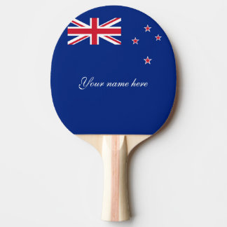 Flag of New Zealand Ping Pong Paddle